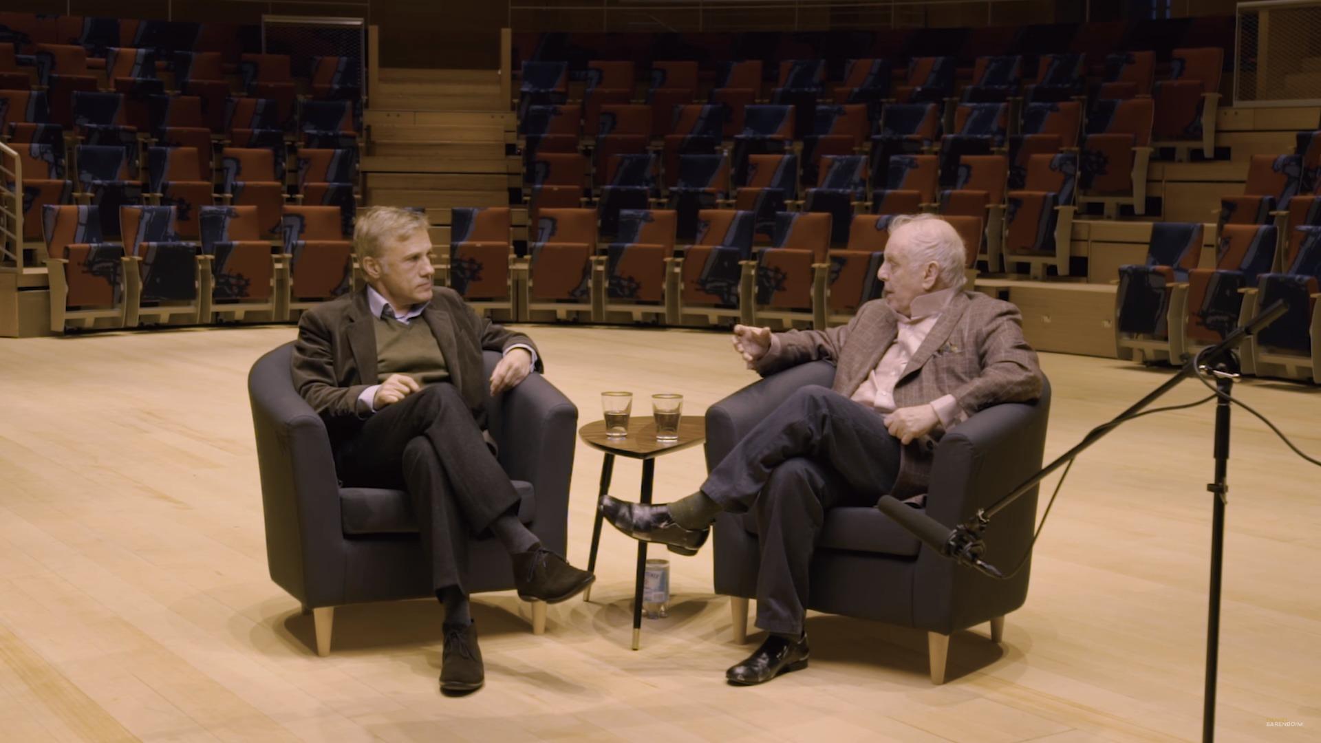 Daniel Barenboim im Gespräch mit Christoph Waltz