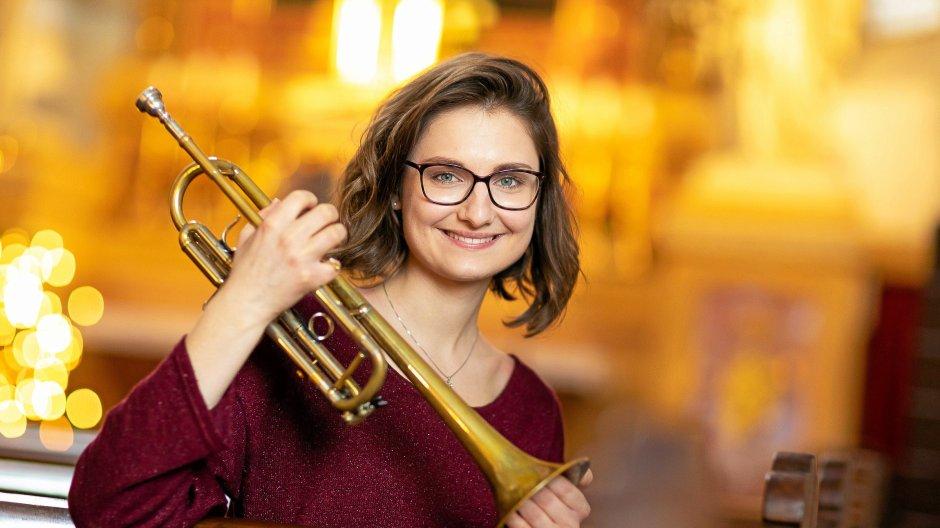 Die niederösterreichische Trompeterin Selina Ott,