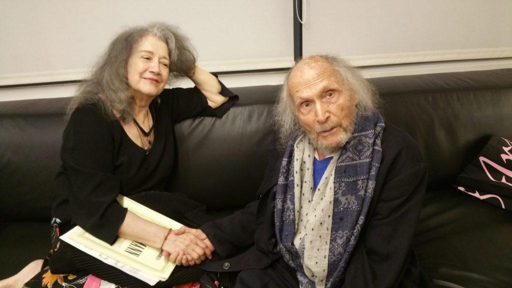 Martha Argerich und Ivry Gitlis, nach einem Kammerkonzert im Oktober 2018